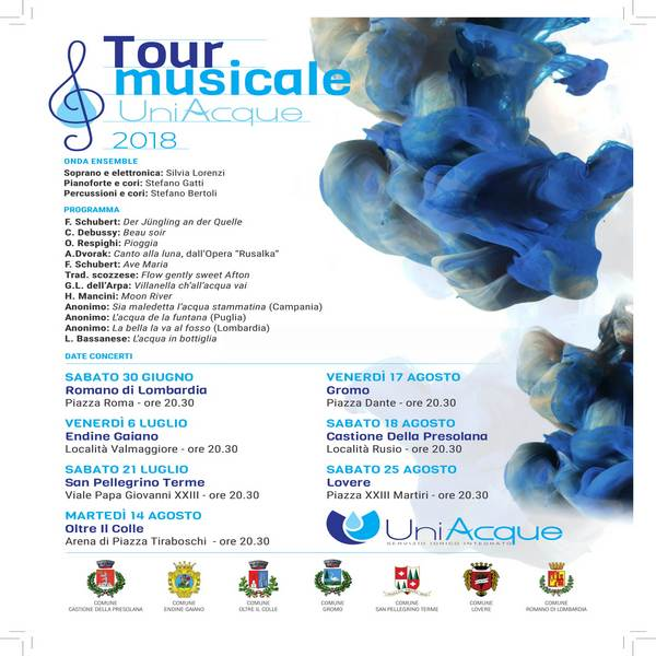 TOUR UNIACQUE 2018: NOTE D'ACQUA DI QUALITA'