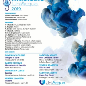 Tour musicale Uniacque 2019