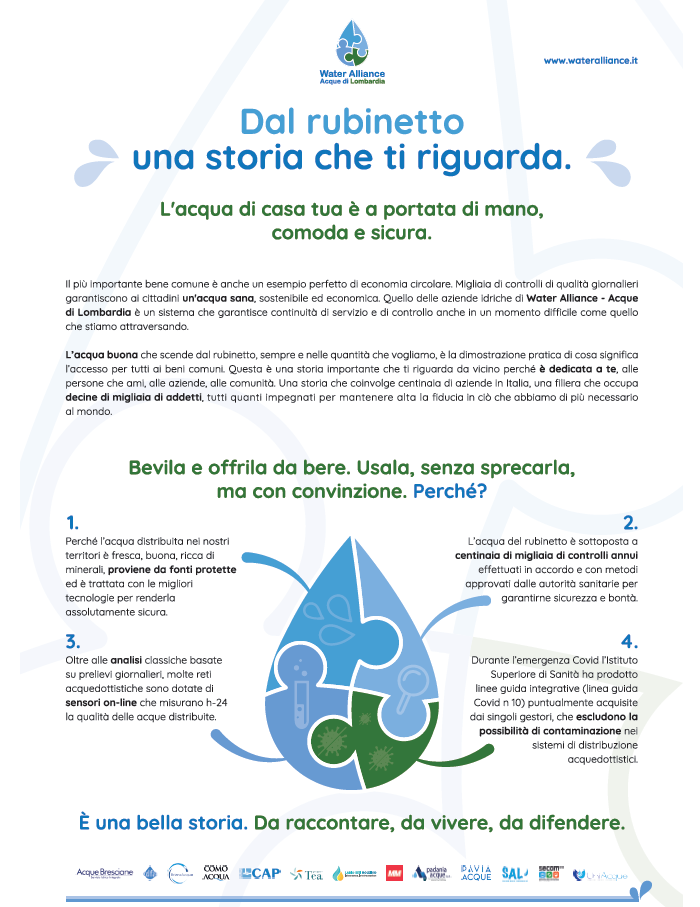 Manifesto acqua Water Alliance